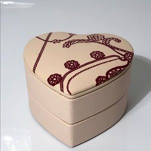 Pandora genuine leather heart shaped jewelry box